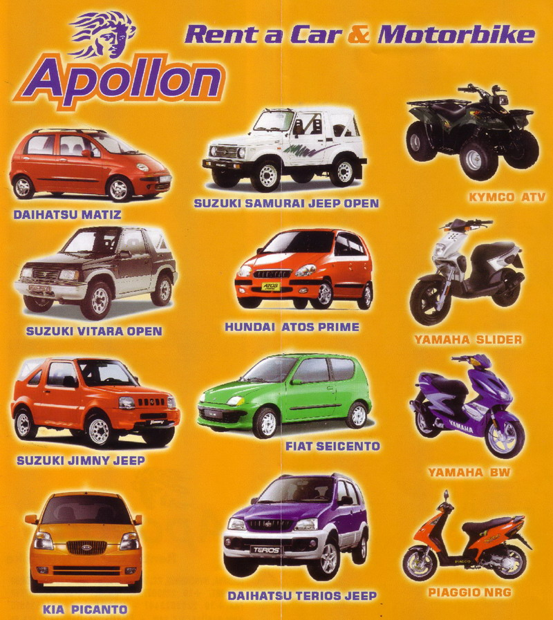 Apollon Car Rental Mykonos